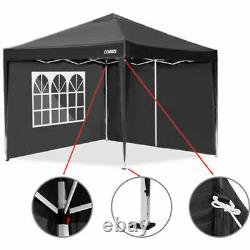 3x3M PopUp Waterproof Gazebo Canopy Marquee Strong Wth 4Sides Garden Patio Tent