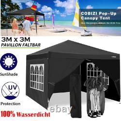 3x3M Waterproof PopUp Gazebo Garden Wedding Party Patio Canopy Tent with4 Sides UK