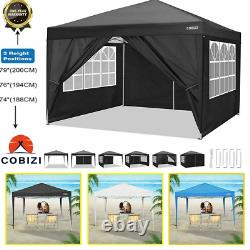 3x3m Gazebo Marquee Party Tent Waterproof Garden Patio Outdoor Canopy With 4 sided
