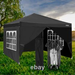 3x3m Waterproof Pop Up Gazebo Garden Wedding Party Patio Canopy Tent with4 Sides