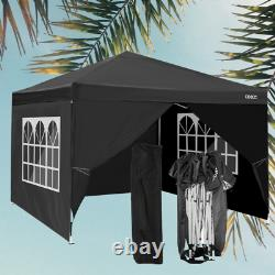 3x3m Waterproof Pop Up Gazebo Garden Wedding Party Patio Canopy Tent with4Sides UK