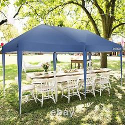 3x6M Heavy Duty Gazebo Marquee Canopy Garden Patio Party Tent 6 Removable Walls
