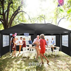 3x6m Gazebo Marquee Party Tent Waterproof Garden Patio Outdoor Canopy With 6 Sides