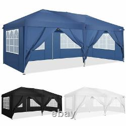 3x6m Gazebo Marquee Party Tent With4 Sides Waterproof Garden Outdoor Canopy Patio