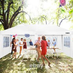 3x6m Pop-up Waterproof Gazebo withSides Party Tent Marquee Heavy Duty Canopy Patio