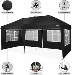 COBIZI Gazebo Marquee Party Tent With 6Sides Waterproof Garden Patio Canopy 3x3m