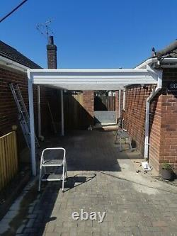 Carport patio decking canopy garden cover shelter lean to animal dog pet awning