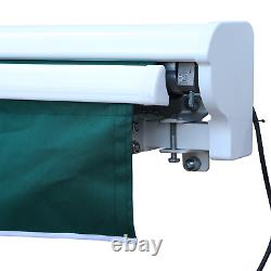Electric Retractable Awning 2.5x2m Green Canopy Waterproof Patio Cassette Shade