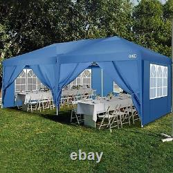 Garden Waterproof Pop Up Gazebo 3x6m Patio Outdoor Canopy Party Tent With 6Sides