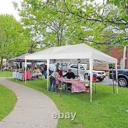 Gazebo 3x6m Garden Party Patio Shelter Tent Pop up Marqueen Outdoor Canopy White