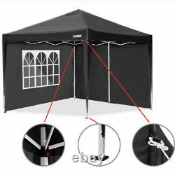 Gazebo Marquee Party Tent With Sides Waterproof Garden Patio Outdoor Canopy 3x3m