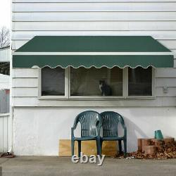 Huge Electric Retractable Awning 3x2.5m Green Canopy Motorised Patio Cassette UK