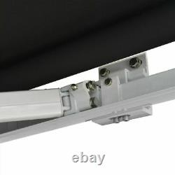 Manual Cassette Awning Anthracite Retractable Canopy Shade aluminium frame Patio