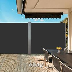 Roll Retractable Garden Side Awning Blind Screen Canopy Sunshade Patio Outdoor