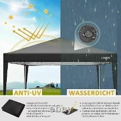 3x3m Pop Up Gazebo Marquee Canopy Mariage Jardin Party Patio Tente Imperméable