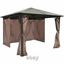 Garden Party Gazebo Canopy Patio Metal Heavy Duty Marquee Curtains Dome 3x3m Nouveau