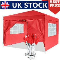 Gazebo 3×3m Marquee Waterproof Garden Party Patio Canopy Withsides Pop Up Tent Uk