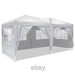 Gazebo 3x6m Jardin Party Patio Shelter Tente Pop Up Marqueen Outdoor Canopy White