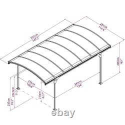 Structure Car Port Outdoor Gazebo Canopy Grand Jardin Patio Shade Shelter Auvent